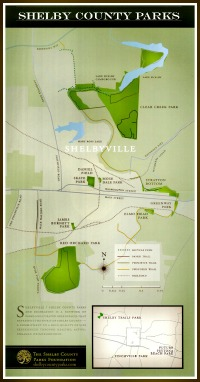 Map of Parks in Shelby County