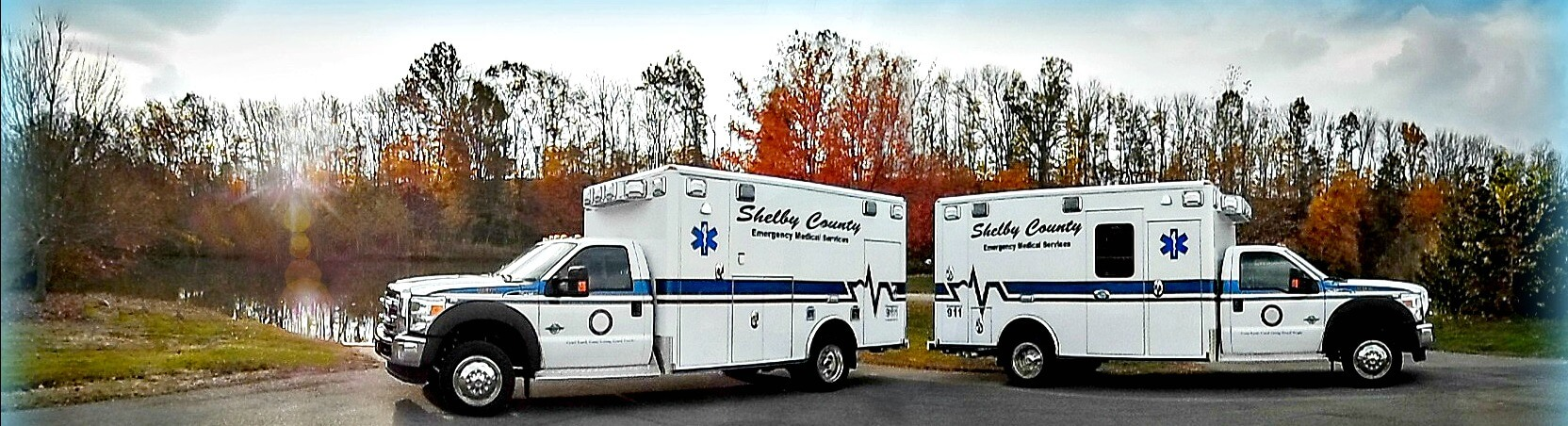 Shelby County EMS trucks